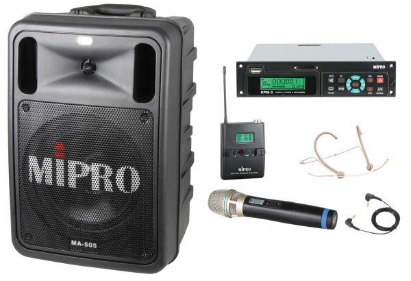 MIPRO MA-505 Mobiles Lautsprechersystem im Bundle