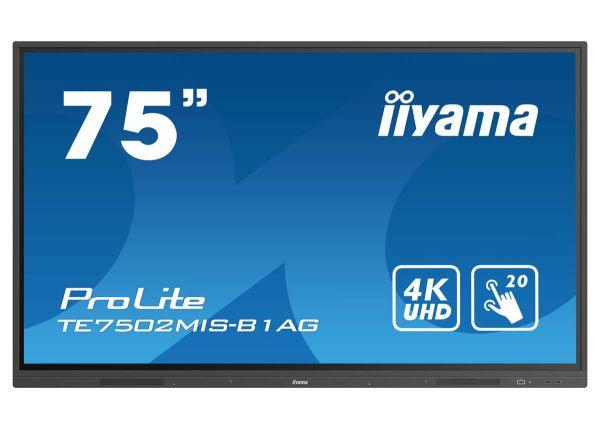 "iiyama ProLite TE7502MIS-B1AG Interaktives 75"" Touchscreen-Display mit 4K-Auflösung"