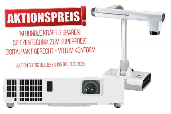 Bundle ELMO MO-2 + Maxell MP-JU4001 zum Aktionspreis