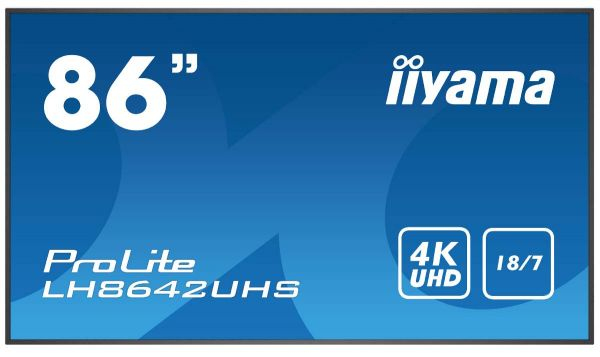 "iiyama ProLite LH8642UHS-B3 Professionelles 86"" Digital Signage Display"