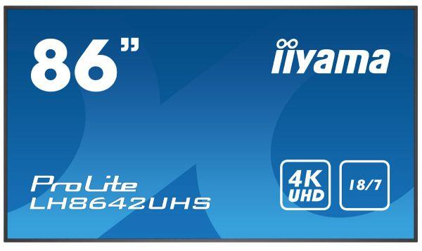 "iiyama ProLite LH8642UHS-B1 LCD Touch Display 86"""