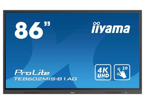 "iiyama ProLite TE8602MIS-B1AG Interaktives 86"" Touchscreen-Display mit 4K-Auflösung"