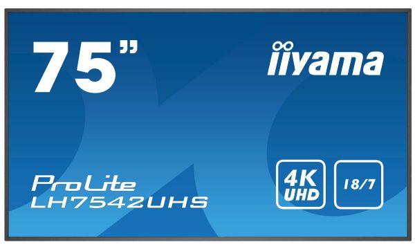 "iiyama ProLite LH7542UHS-B3 Professionelles 75"" Digital Signage Display"